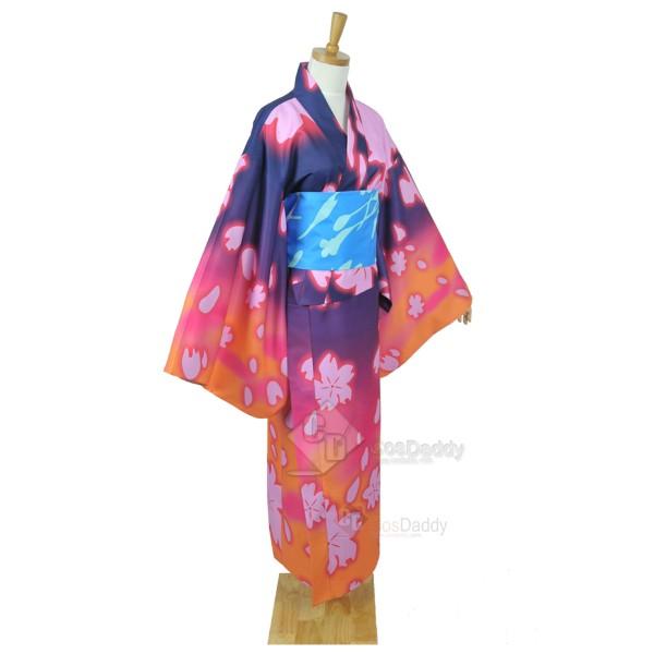 Vocaloid Hatsune Miku Project Diva-F Megurine Luka Bathrobe Kimono Cosplay Costume