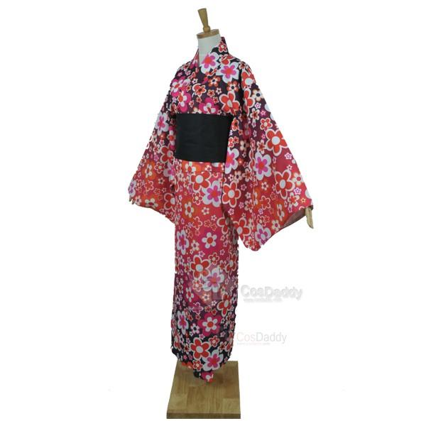 Vocaloid Hatsune Miku Project Diva-F Meiko Bathrobe Kimono Cosplay Costume