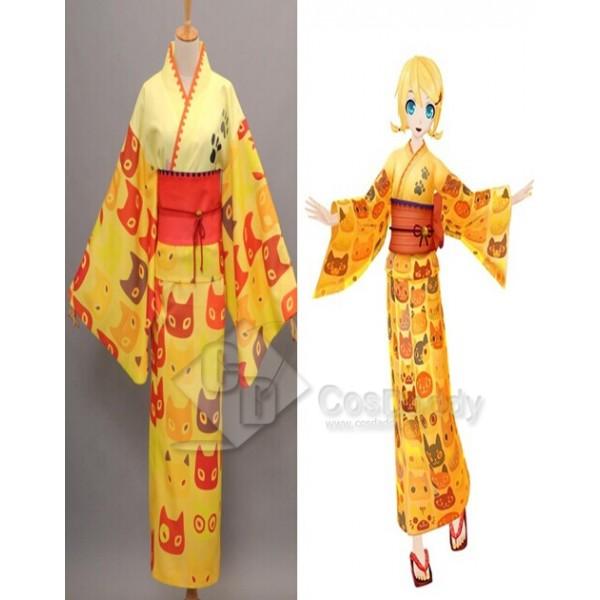 Vocaloid Hatsune Miku Project Diva-F Miku Bathrobe Kimono Cosplay Costume
