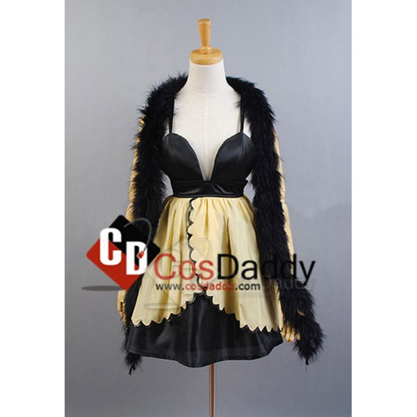Vocaloid RIN Trickery Casino Dress Scarf Set Party Cosplay Costume