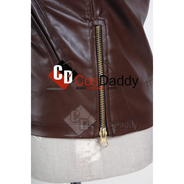 War of the Worlds Brown Pleather Jacket Cosplay Costume