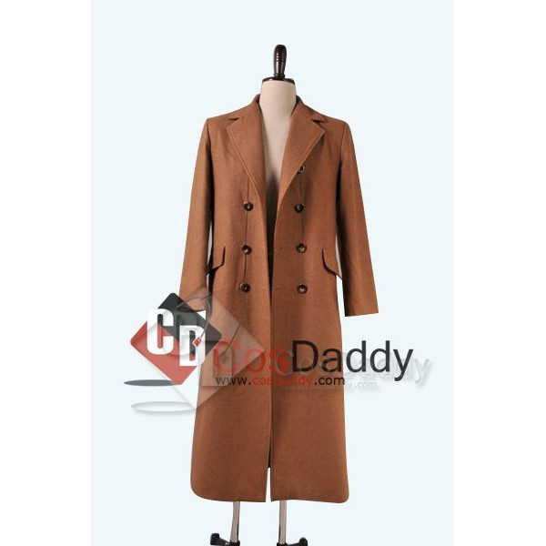 Doctor  Who Tenth 10th Doctor Wool Trench Coat Costume