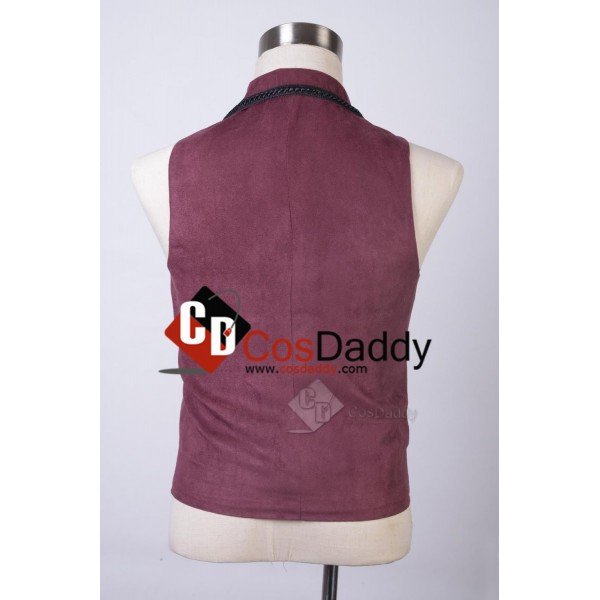 Doctor Who Eleventh 11th Doctor Purple Waistcoat Vest Costume