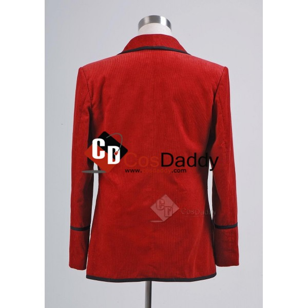 Doctor Who Third 3rd Doctor Red Corduroy Jacket Cosplay Costume