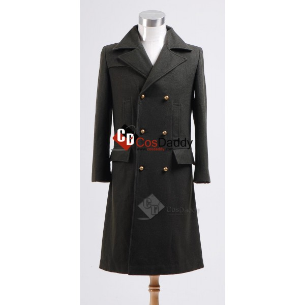 Doctor Who Eleventh 11th Doctor Green Wool  Coat Costume