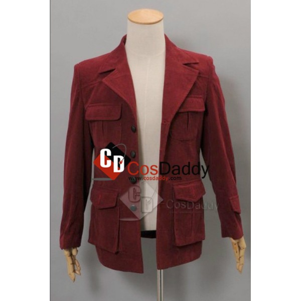 Doctor Who fourth 4th Doctor Dark Red Corduroy Jacket Cosplay Costume