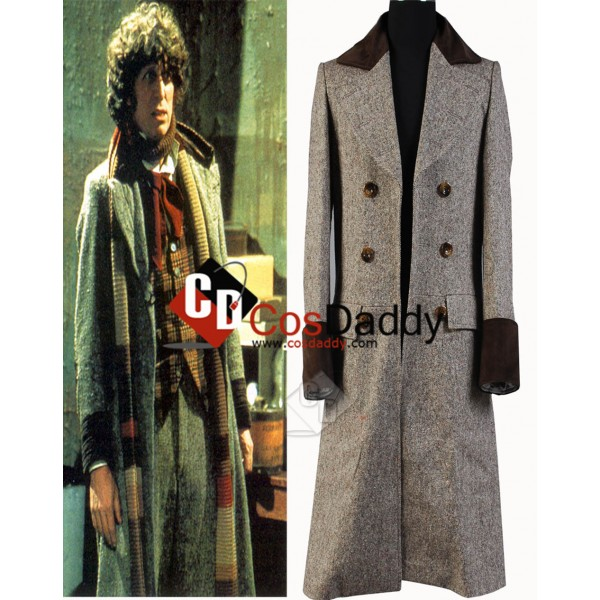 Doctor Who Fourth 4th Doctor Wenge Brown Long Tren...