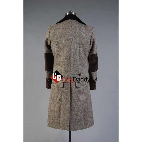 Doctor Who Eleventh 11th Doctor Wenge Brown Long Trench Coat Cosplay Costume
