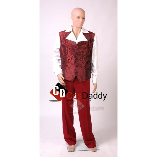 Doctor Who fourth 4th Doctor  Dark Red Vest Pants ...