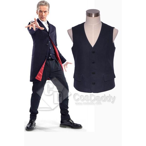 Doctor Who Twelfth 12th Doctor Dark Blue Vest Cosplay Costume