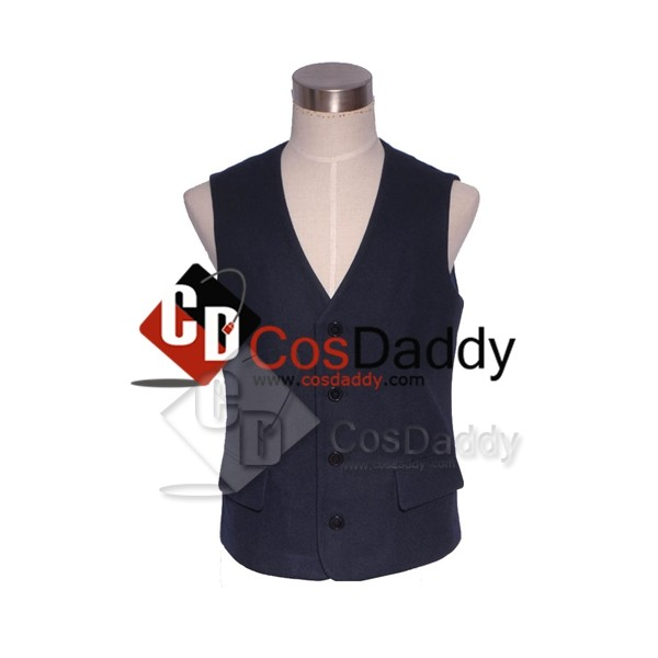 Doctor Who Twelfth 12th Doctor Dark Blue Vest Cosp...