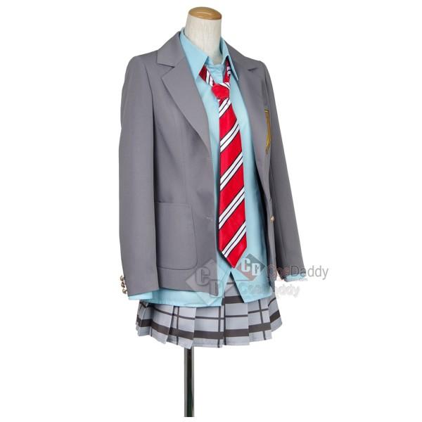 Your lie in April Kaori Miyazono School Uniform Cosplay Costume