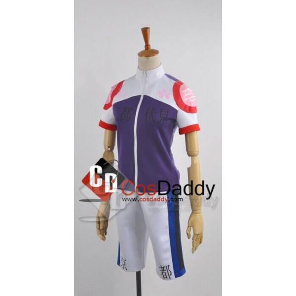 Yowamushi Pedal Kyoto Fushimi Members Akira Climber Race Suit Cosplay Costume