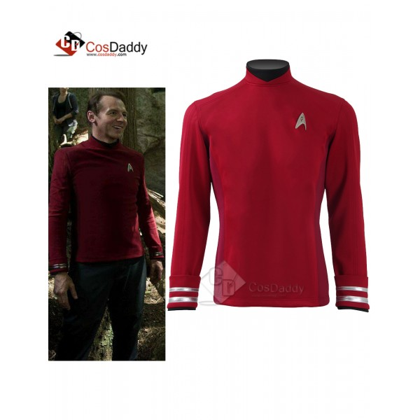 Star Trek Beyond Red Shirt Tops Jacket Scotty  Off...