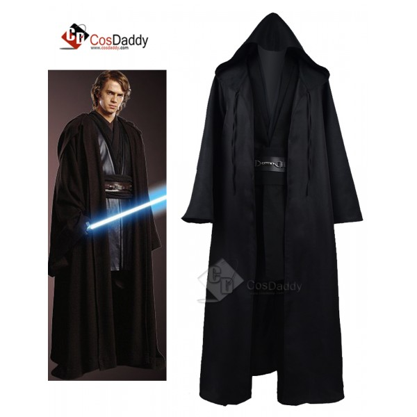 Star Wars Anakin Jedi Tunic Black Cosplay Costume