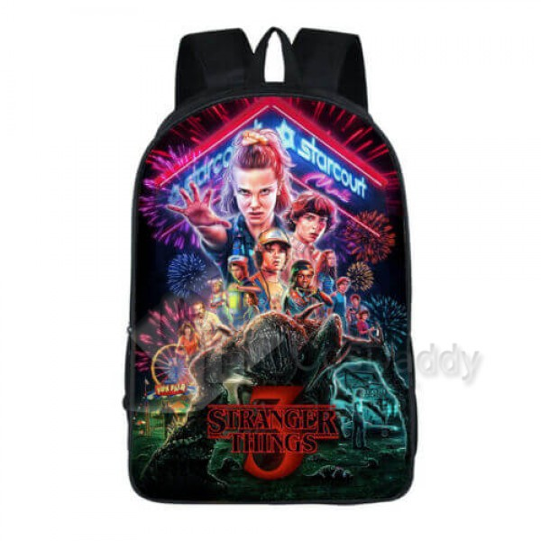Stranger Things 3 Backpack School Bag Bookbag for ...