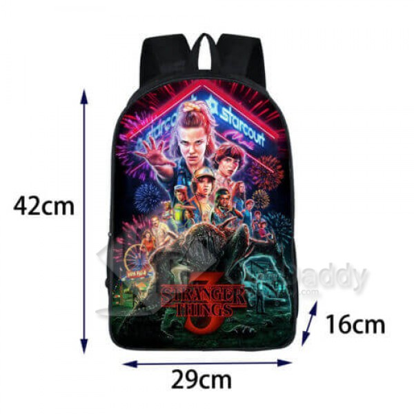 Stranger Things 3 Backpack School Bag Bookbag for Kids Children Boys Girls