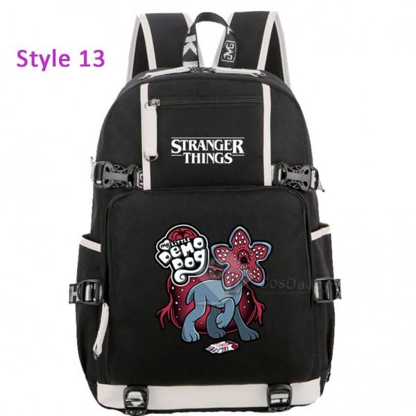 Stranger Things Backpack Plain School Bag Bookbag for Kids Children Boys