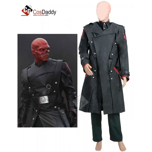 Captain America Red Skull Complete Cosplay Costume...