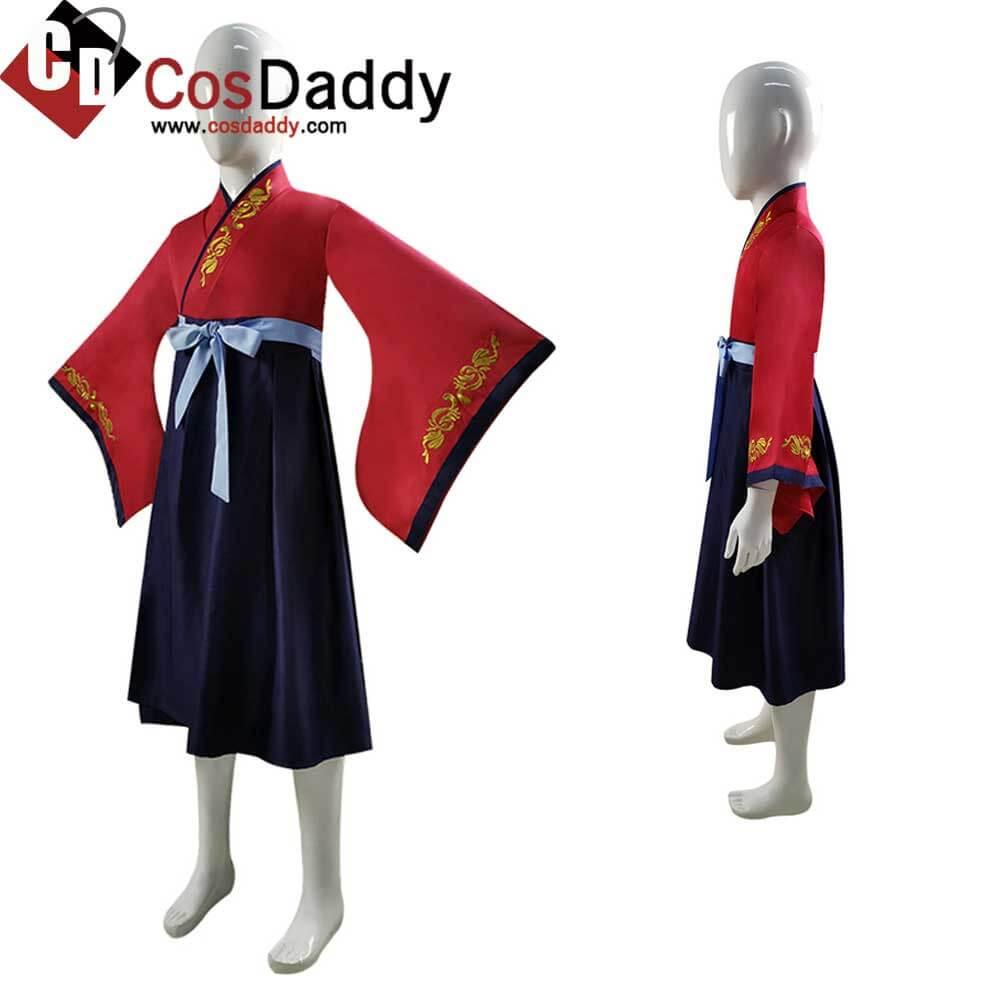 2020 Kids Hua Mulan Costume Disney Princess Girls Dress Cosplay