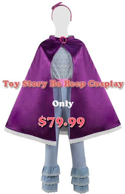 DISNEY TOY STORY 4 BO PEEP OUTFIT COSPLAY COSTUME