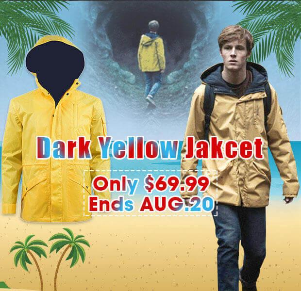 Dark Jonas Kahnwald Jacket Yellow Raincoat